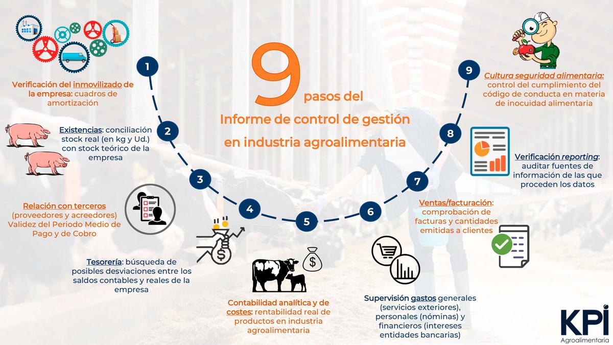 Infografía 9 pasos para la auditoría de control